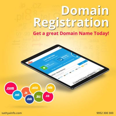Sathya Technosoft is the best Domain Registration Company in India. Domain names is the initial process that assists in uplifting the position of your business. https://www.sathyainfo.com/domain-registration