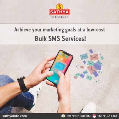 We are the best bulk SMS service provider in India, for instant business reach and to gain more clients in less time, you can choose this marketing strategy. https://www.sathyainfo.com/bulk-sms-service
