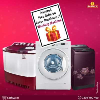Visit Sathya Online Shopping to purchase branded Washing Machines at best price. We offer amazing Washing Machine Offers to make your purchase more interesting.  Sathya Online Shopping Contact: 7339400400 Visit Us: https://www.sathya.in/washing-machine